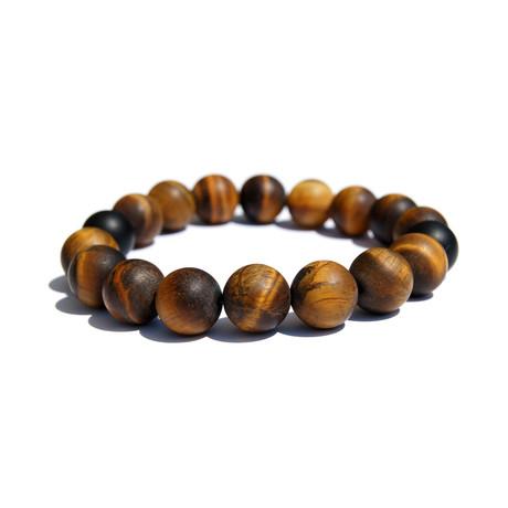 Stone Cold Tiger Eye Bracelet // Brown