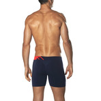 Seamless Trunk // Navy + Red (M)