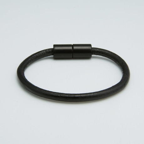 Leather Bracelet // Black