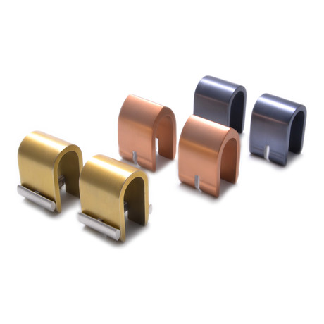 Dysprosium Cuff Link Set // Champagne + Copper + Charcoal