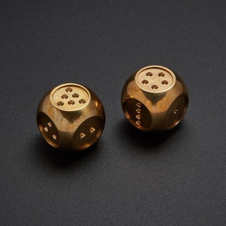 AKO Dice II // Set of 2 // Solid Brass