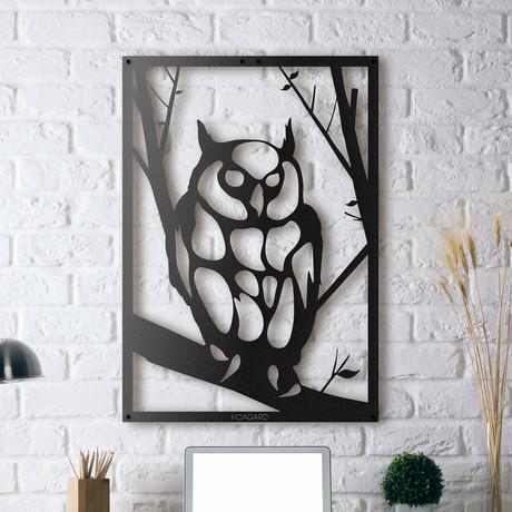 """Owl // Framed (14""""W x 20""""H x 0.5""""D)"""