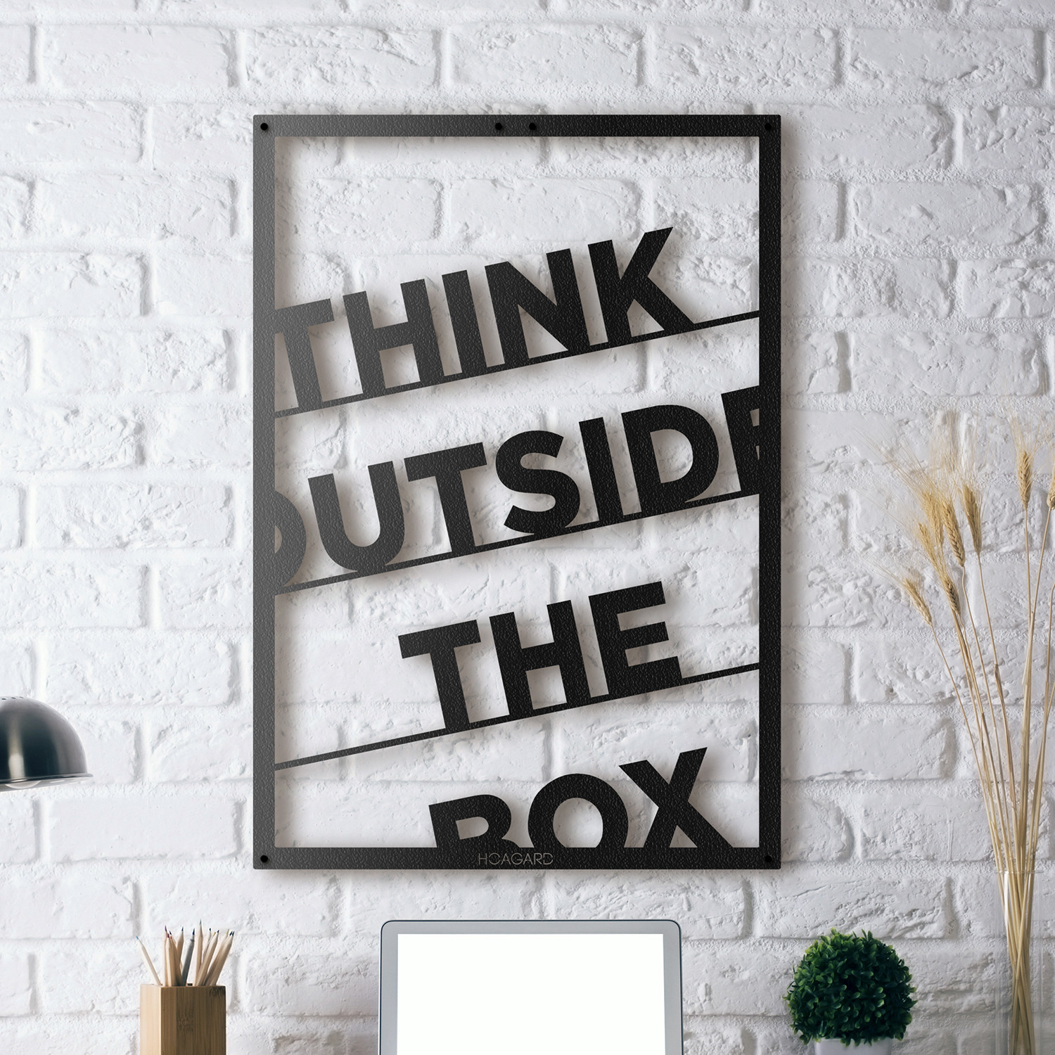 think outside the box framed 14 w x 20 h x 0 5 d metal posters touch of modern. Black Bedroom Furniture Sets. Home Design Ideas