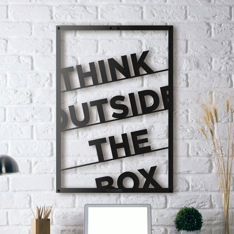 "Think Outside The Box // Framed (14""W x 20""H x 0.5""D)"