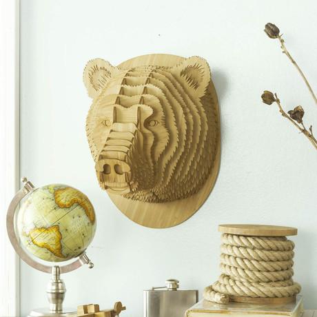 Stewart // Bamboo Wood Bear Head