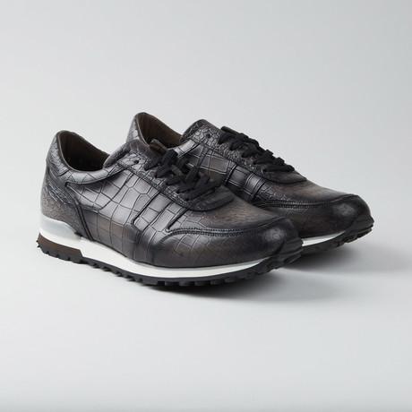 Crocodile Casual Runner // Gray