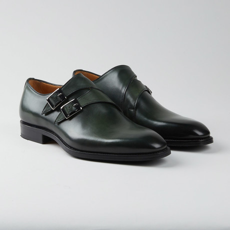 Amberes Double Monkstrap // Green