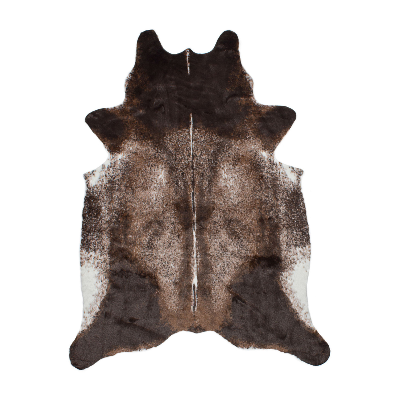 El Paso Dark Brown Faux Cowhide Rug
