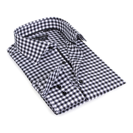 Gingham Button-Up // Black (S)