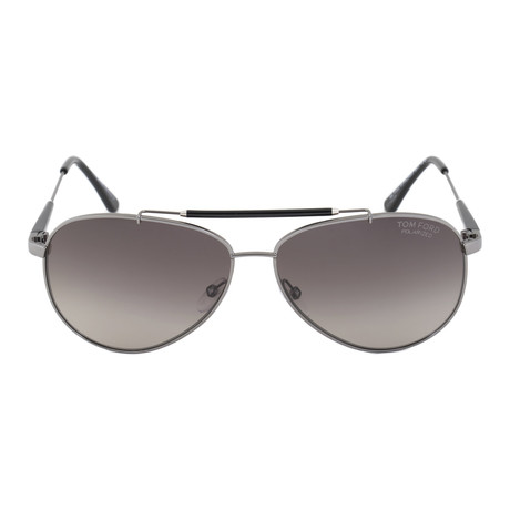 Tom Ford // Rick Gunmetal Polarized Aviator Sunglasses // FT0378 10D 62 POL