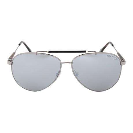 Tom Ford // Rick Silver Aviator Sunglasses // FT0378 14Q 60