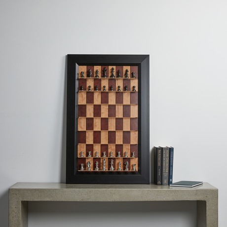 Vertical Chess Board // Red Cherry