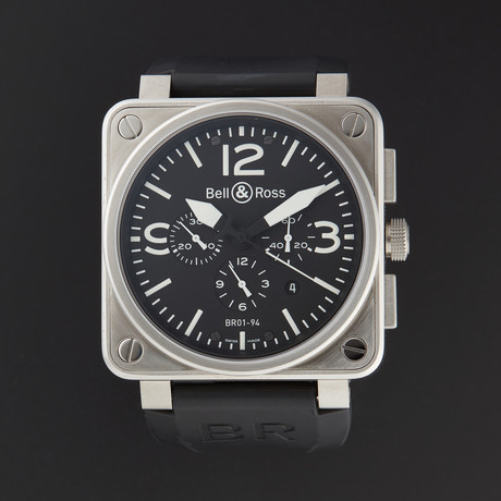 Bell & Ross Aviation Chronograph Automatic // BR01-94-STEEL // Store Display