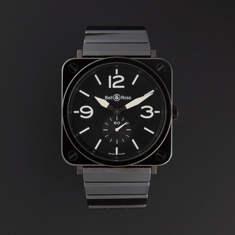 Bell & Ross Aviation Quartz // BRS-BLK-CER // Store Display