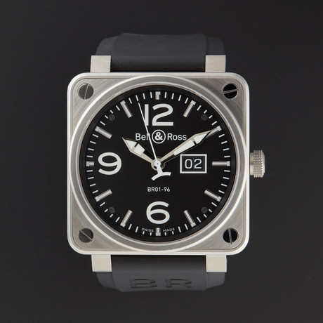 Bell & Ross Aviation Grande Date Automatic // BR01-96-STEEL // Store Display