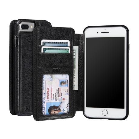 Wallet Book // Black             (iPhone 7)