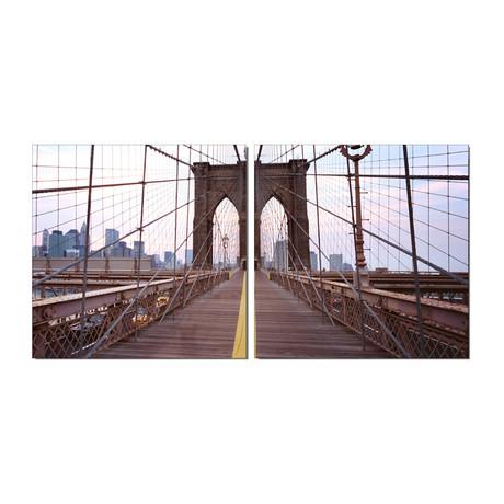 """Brooklyn Bridge 2 Panel (20""""H x 40""""W x 1""""D)"""