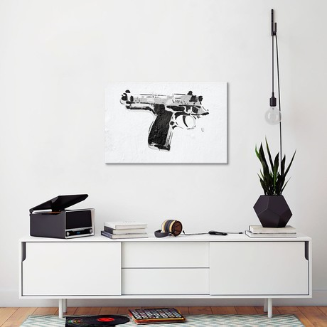 "Gun Yourself (18""W x 26""H x 0.75""D)"