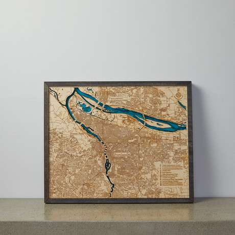"""Portland, OR (17""""W x 13""""H x 2""""D)"""