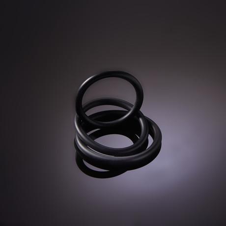 3 C-Ring Set Thin + Mood Water Based Glide 4oz // Black