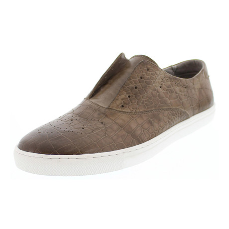 Loop Slip-On Leather Sneaker // Taupe