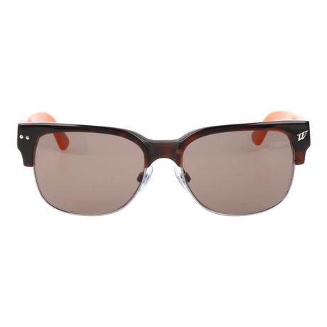 Heavy Horn-rimmed Square Sunglasses // Tortoise + Orange