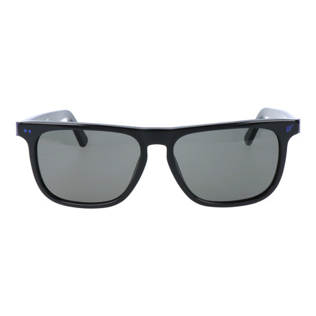 Straight Brow Rectangle Wayfarer // Black