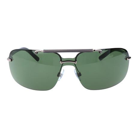 Embellished Bar Square Shield Sunglasses // Gunmetal
