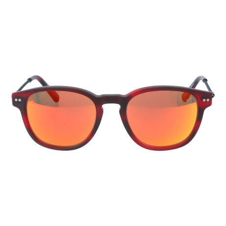 Multi Color Rounded Square Wayfarer // Red