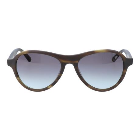 Curved Brow Triangular Sunglasses // Brown Tortoise