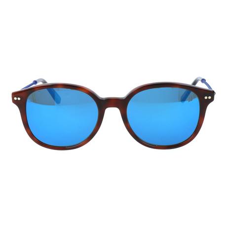 Rounded Square Wayfarer // Brown Tortoise + Blue Mirror