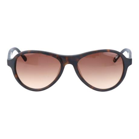Curved Brow Triangular Sunglasses // Deep Brown Tortoise