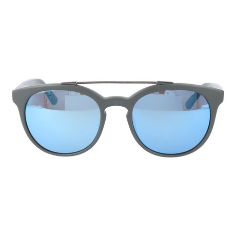Top Bar Rounded Sunglasses // Black + Blue