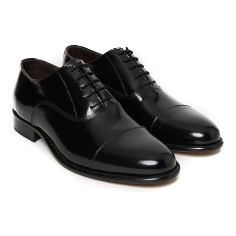 Patent Cap Toe Oxford // Black (Euro: 40)