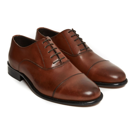 Humberto Toe Cap Oxford // Brown (Euro: 40)