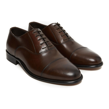 Leonidas Toe Cap Oxford // Dark Brown (Euro: 40)