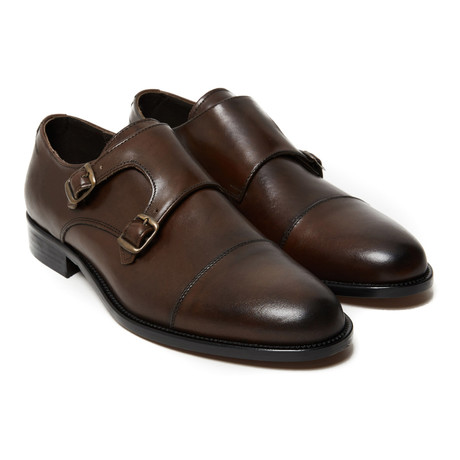 Charlie Toe Cap Monk Strap // Dark Brown (Euro: 40)