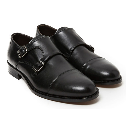 Cap Toe Double Monkstrap // Black