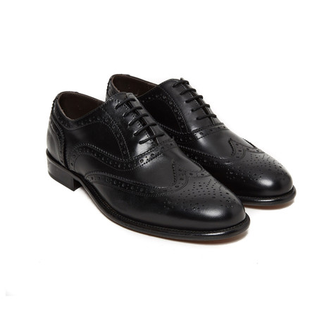 Frank Wing Cap Oxford // Black (Euro: 40)