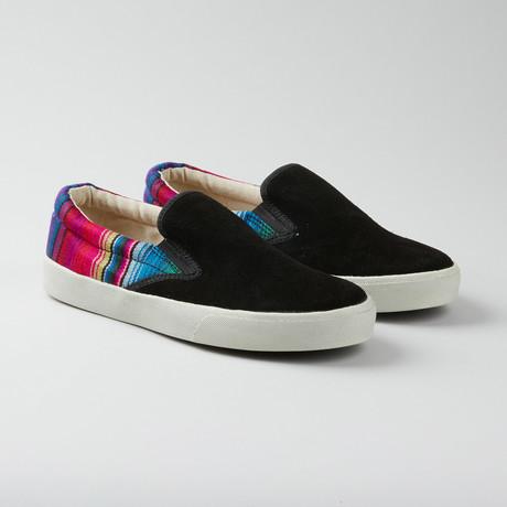 Rainbow Slip-On // Black + Multi