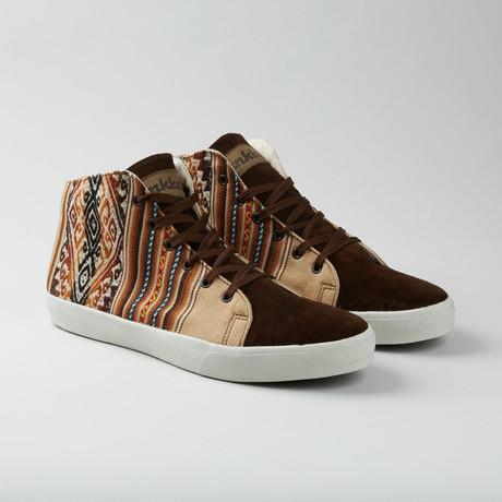 Desert Mid Top // Tan + Brown + Multi