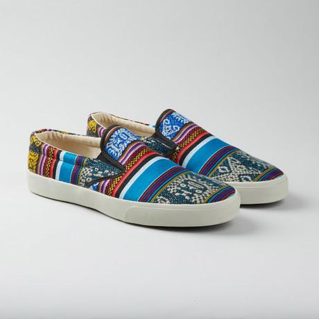 Bluebird Slip-On // Blue + Red + Multi