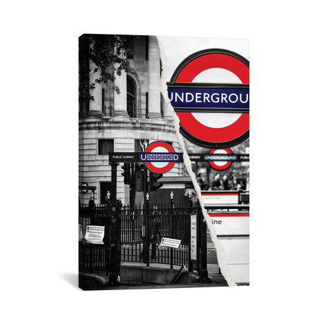 """Underground // Philippe Hugonnard (26""""W x 40""""H x 1.5""""D)"""