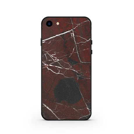 The Marble Case // Rosso Levanto // Black (iPhone 7)