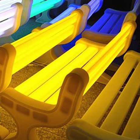 Led Lightup Garden Bench (White)