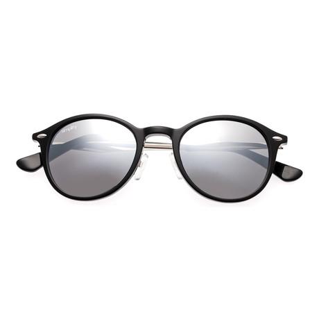 Reynolds Polarized Sunglasses (Blue Frame + Black Lens)