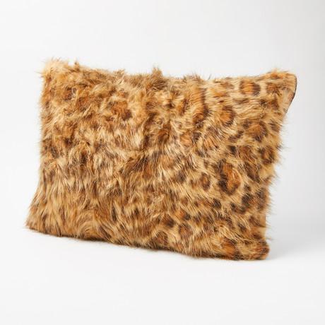 """Leopard Pillow // Pearl (14""""L x 20""""W)"""