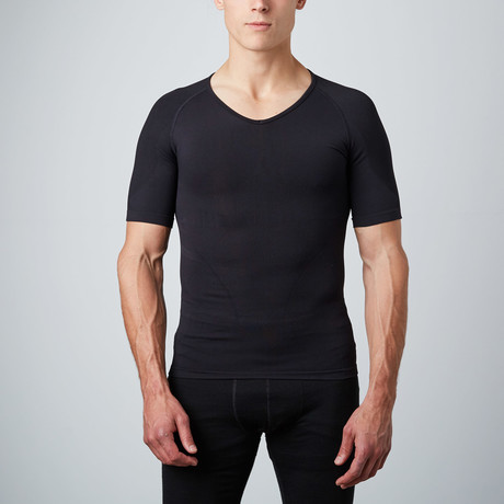 Compression Short-Sleeve Shirt // Black (S)