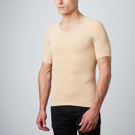 Short-Sleeve Compression Shirt // Nude