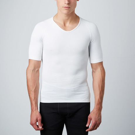 Compression Short-Sleeve Shirt // White (S)